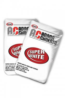 Белый цемент в мешках по 50 кг