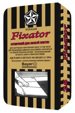 Клей для плитки Fixator в мешках по 25 кг