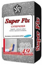 Клей для плитки Superfix в мешках по 25 кг