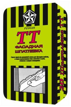 Шпатлевка фасадная выравнивающая универсальная ТТ в мешках по 20 кг